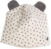 bonniemob Reversible Baby Beanie Hat w/ Ears, Light Gray