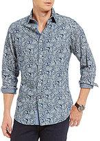 Daniel Cremieux Jeans Paisley Snap-Front Long-Sleeve Woven Shirt