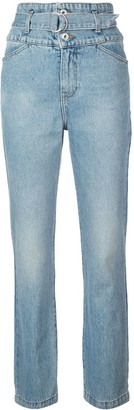 Jonathan Simkhai belted high waisted jeans