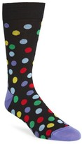 Bugatchi Men's Large Polka Dot Socks