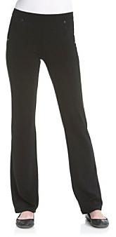 Calvin Klein Black Pull-On Bootleg Ponte Pants