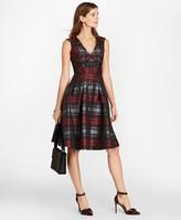 Brooks Brothers Petite Tartan Jacquard Dress