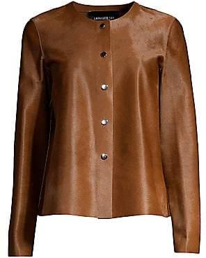 Lafayette 148 New York Women's Leo Collarless Calf Hair Jacket