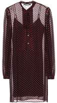 McQ Long-sleeved silk-blend dress