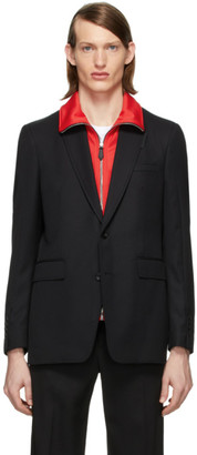 Burberry Black Classic Tailored Blazer