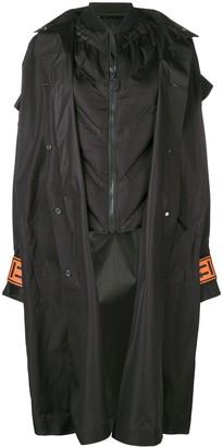 Off-White oversized hood coat