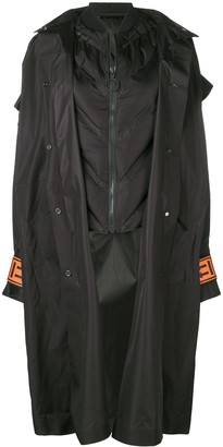 Off-White Oversized Hood Coat