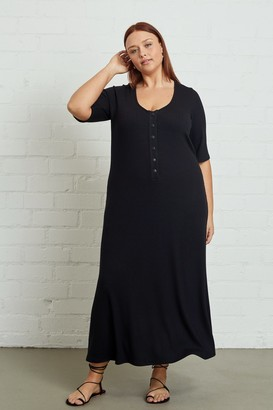 White Label Rib Caro Dress - Plus Size