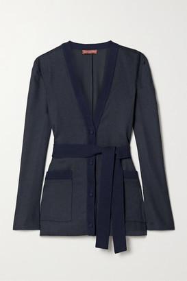 Altuzarra Marianna Belted Flannel Jacket - Midnight blue