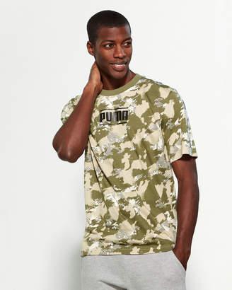 Puma Green Camo Tape Short Sleeve Tee