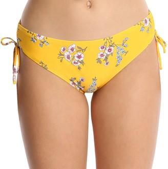 Wallflower Floral Bikini Bottom with Side Bows- Yandy
