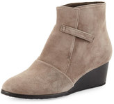 Coclico Opal Suede Wedge Bootie, Gray (Ante Fog)