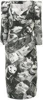Vivienne Westwood printed fitted dress