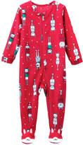 Joe Fresh Baby Girls' Fleece Sleeper, Carmine Red (Size 0-3)
