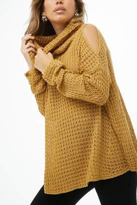 Forever 21 Open-Shoulder Turtleneck Sweater