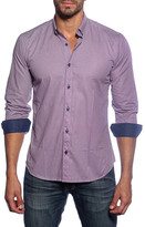 Jared Lang Long Sleeve Window Pane Semi-Fitted Shirt