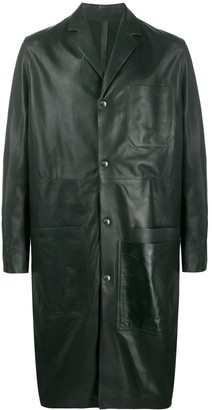 Oamc Mid-Length Single-Breasted Coat