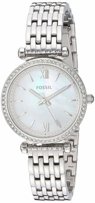 Fossil Women's Mini Carlie Quartz Stainless Steel Watch