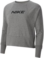 Nike Training Get Fit Logo Sweat Top - Carbon Heather