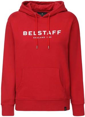 Belstaff Logo Print Cotton Sweatshirt Hoodie