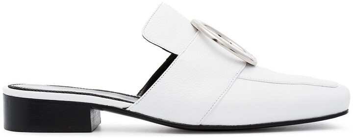 Dorateymur White Petrol Leather Loafers