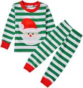 Arshiner Boys or Girls Striped 2 Piece Cute Christmas Pajama Set
