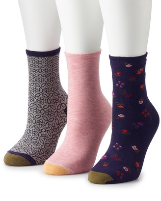 Gold Toe Women's GOLDTOE 3-pk Designer Soft Liberty Floral Crew Socks