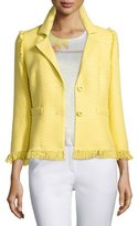 Escada 3/4-Sleeve Two-Button Jacket, Limoncello