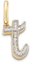 Monica Vinader Diamond Alphabet Pendant T