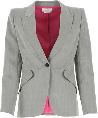 Alexander McQueen Fitted Tailored Blazer