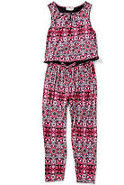 Jessica Simpson Big Girls 7-16 Printed Sleeveless Jumpsuit