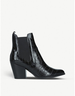 Steve Madden Patricia faux-leather ankle boots