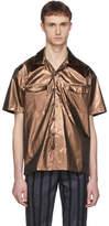 Sunnei Bronze Short Sleeve Hawaiian Shirt