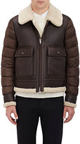 Moncler Men's Aviator Bomber Jacket-BROWN