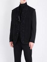 Ann Demeulemeester Sequin-embellished wool jacket