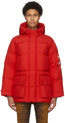 Kenzo Red Down Puffer Sport Little X Jacket