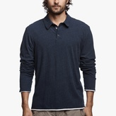 James Perse Recycled Knit Doubled Polo