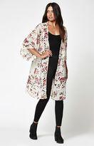 La Hearts Chiffon Maxi Kimono