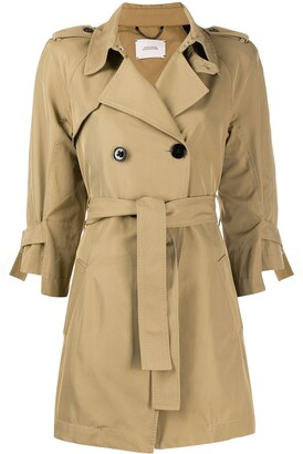 Dorothee Schumacher Double-Breasted Trench Jacket