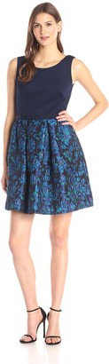 Taylor Dresses Women's Printed Skirt Fit and Flare Dress