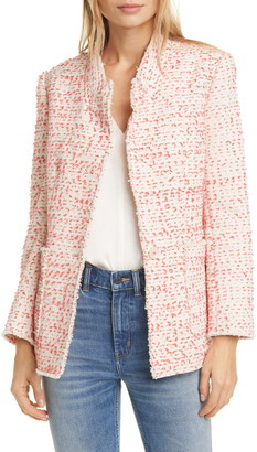Rebecca Taylor Beckie Cotton Blend Tweed Jacket