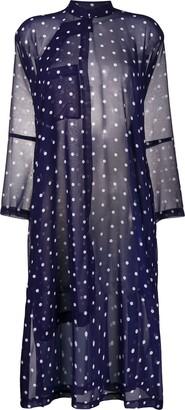 Comme des Garçons Comme des Garçons Polka Dot-Print Sheer Dress