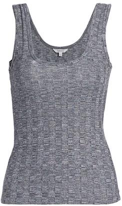 Splendid Lila Cable Knit Linen-Blend Tank Top