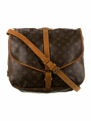 Louis Vuitton Vintage Monogram Saumur 35 Brown