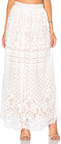 Lucy Paris Lace Maxi Skirt