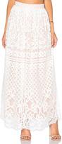 Lucy Paris Lace Maxi Skirt