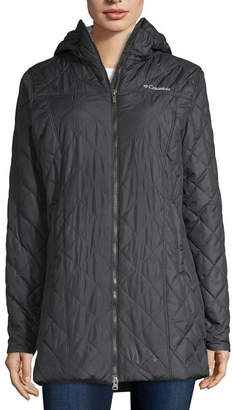 Columbia Copper Crest Long Fleece Lined Midweight Quilted Jacket
