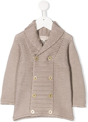 Cashmirino Knitted Double-Breasted Cardigan