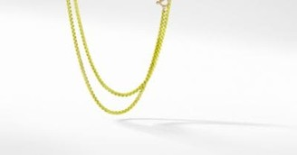David Yurman Dy Bel Aire Chain Necklace In Yellow With 14K Gold