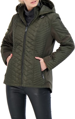 Sebby Collection Hooded Quilted Jacket